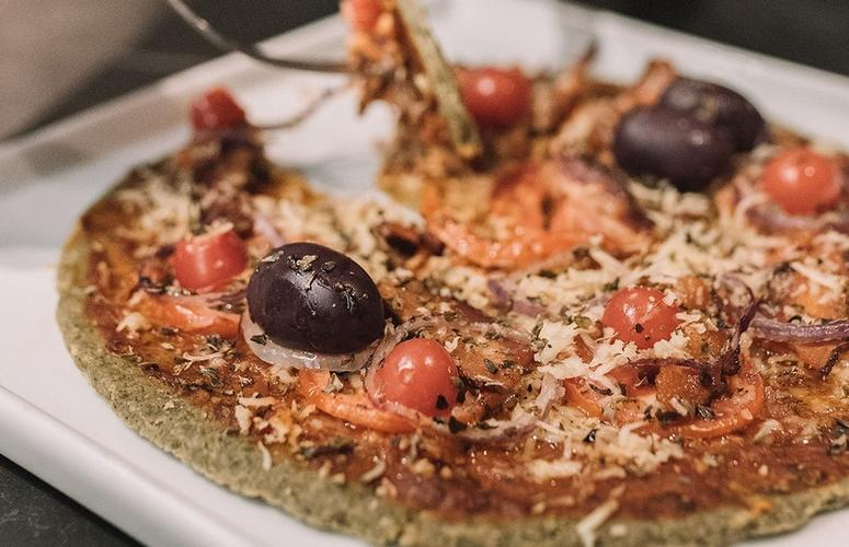 Pizza low carb e cetogênica