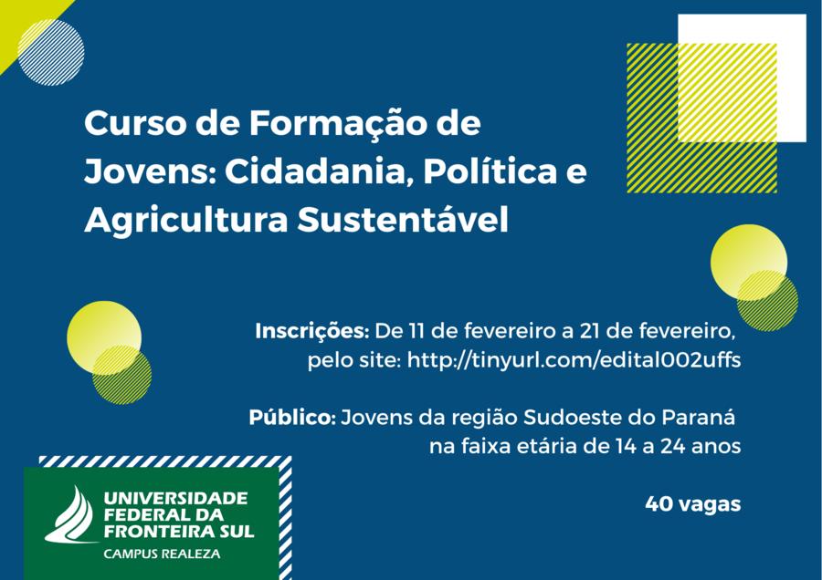 Curso de forma%c3%a7%c3%a3o de jovens  cidadania  pol%c3%adtica e agricultura sustent%c3%a1vel %281%29