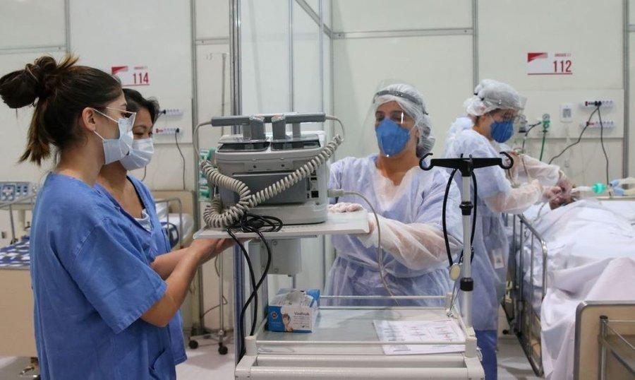 Uti enfermeiros em hospital de campanha