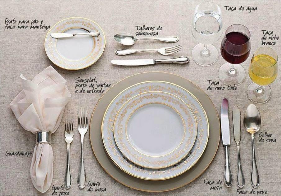 Aprenda a colocar uma mesa formal for Como montar una mesa