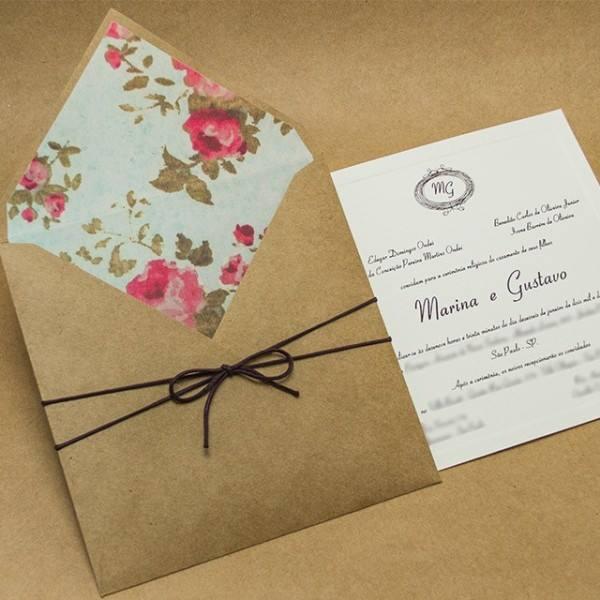 CAMPO-convite de casamento papel e estilo gustavo