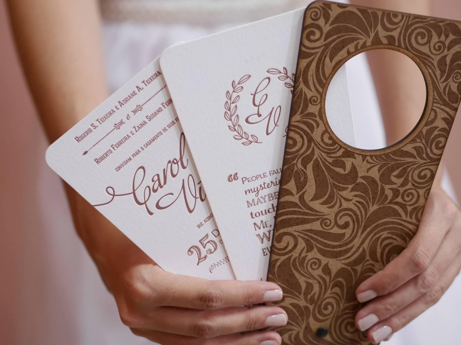Convites para os diferentes tipos de casamento