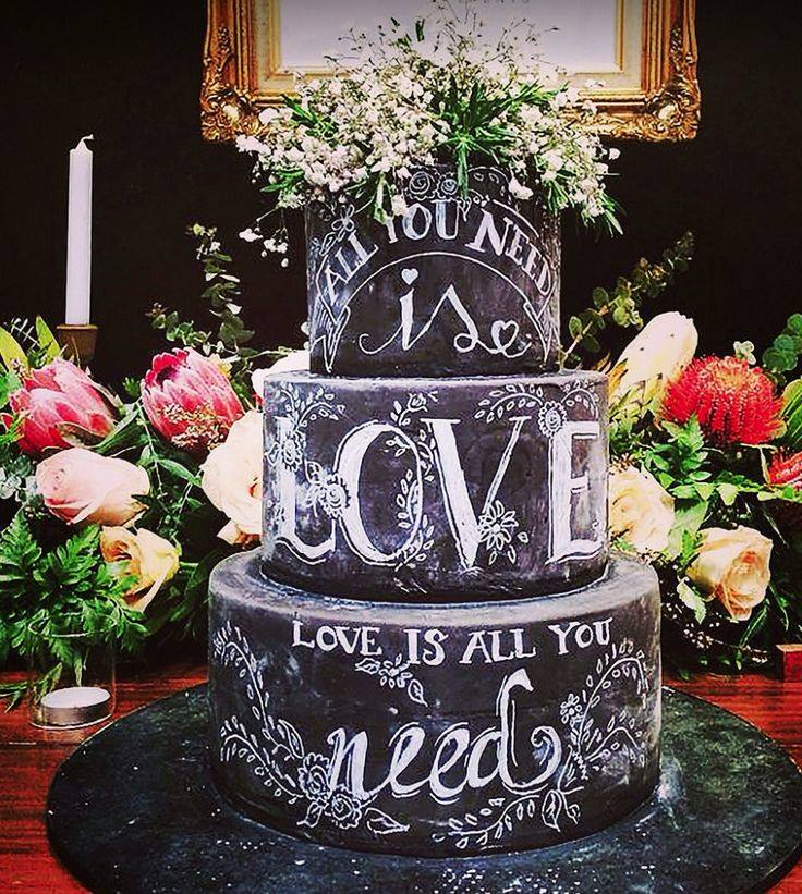 18 bolos de casamento com efeito lousa – ou chalkboard