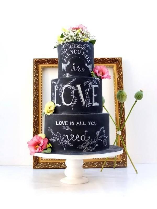 Resultado de imagem para bolos de casamento escritos