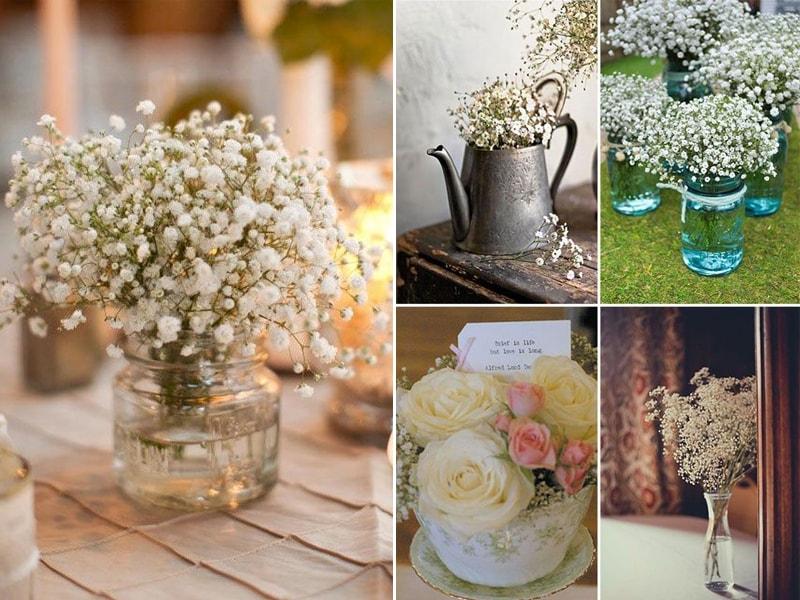 decoracao casamento flores coloridas:Ideias de decoração de casamento com a flor mosquitinho