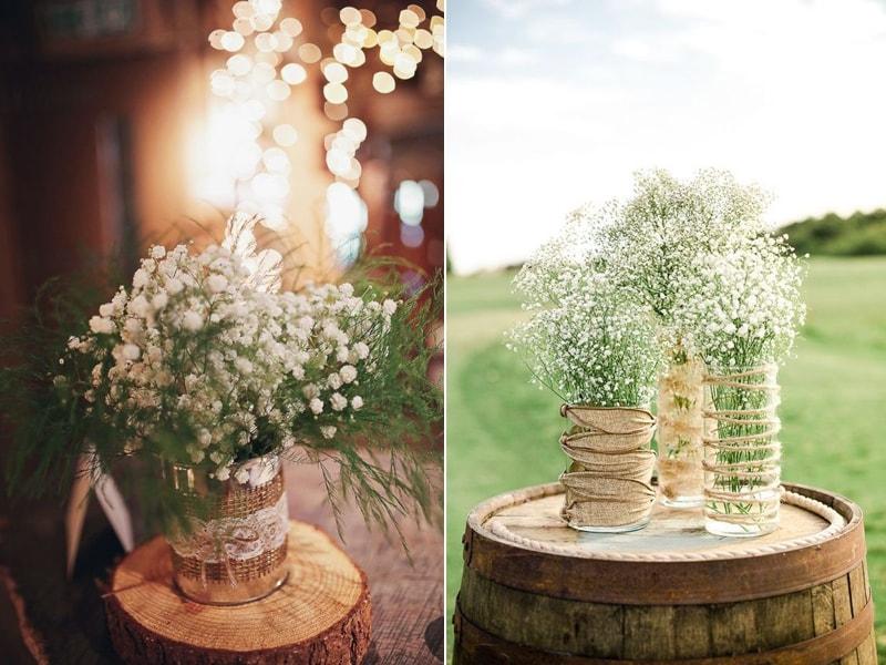 Ideias de decoração de casamento com a flor mosquitinho  Casarcom -> Decoracao De Banheiro Para Casamento