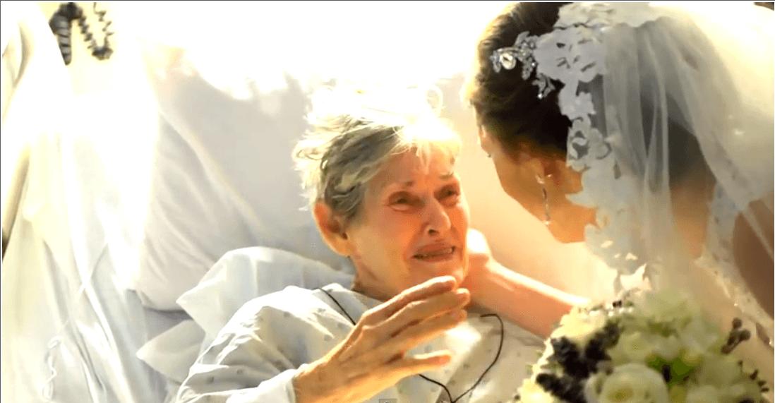 Vídeo: Noiva visita a avó doente no hospital no dia do casamento