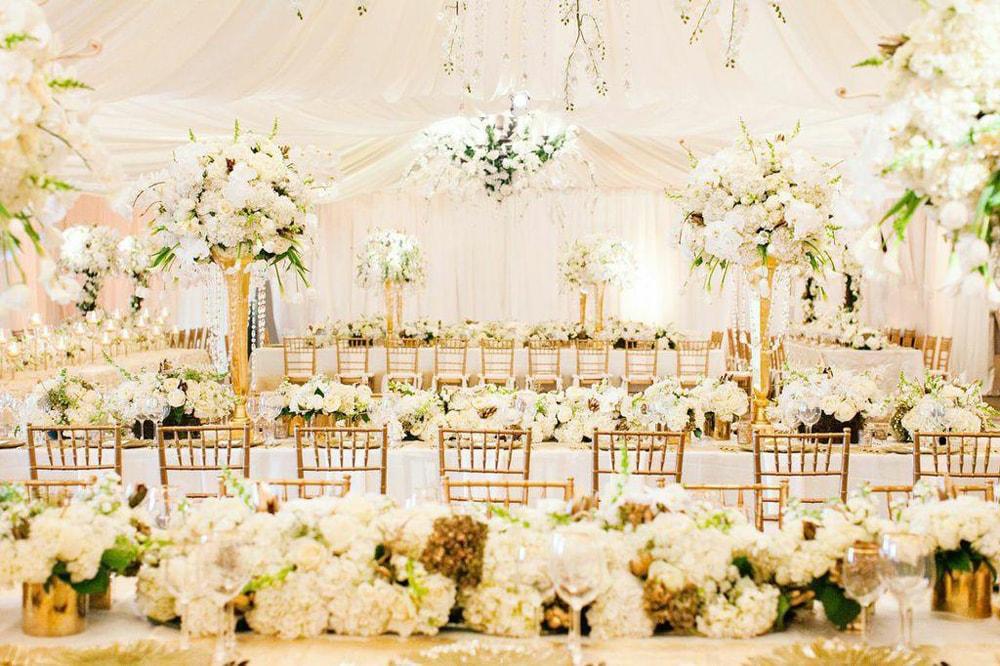 Como usar dourado na decoração do casamento