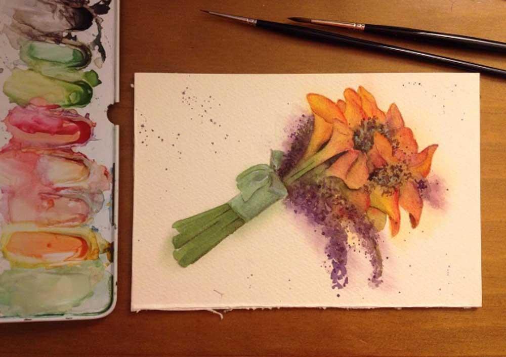 Convites de casamento: ideias de ilustrações em aquarela