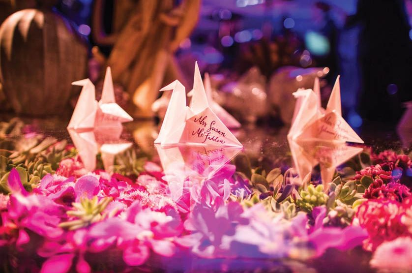 Origami no casamento: saiba como usar