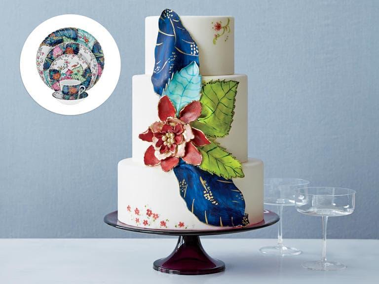Tendência: bolo de casamento que imita porcelana