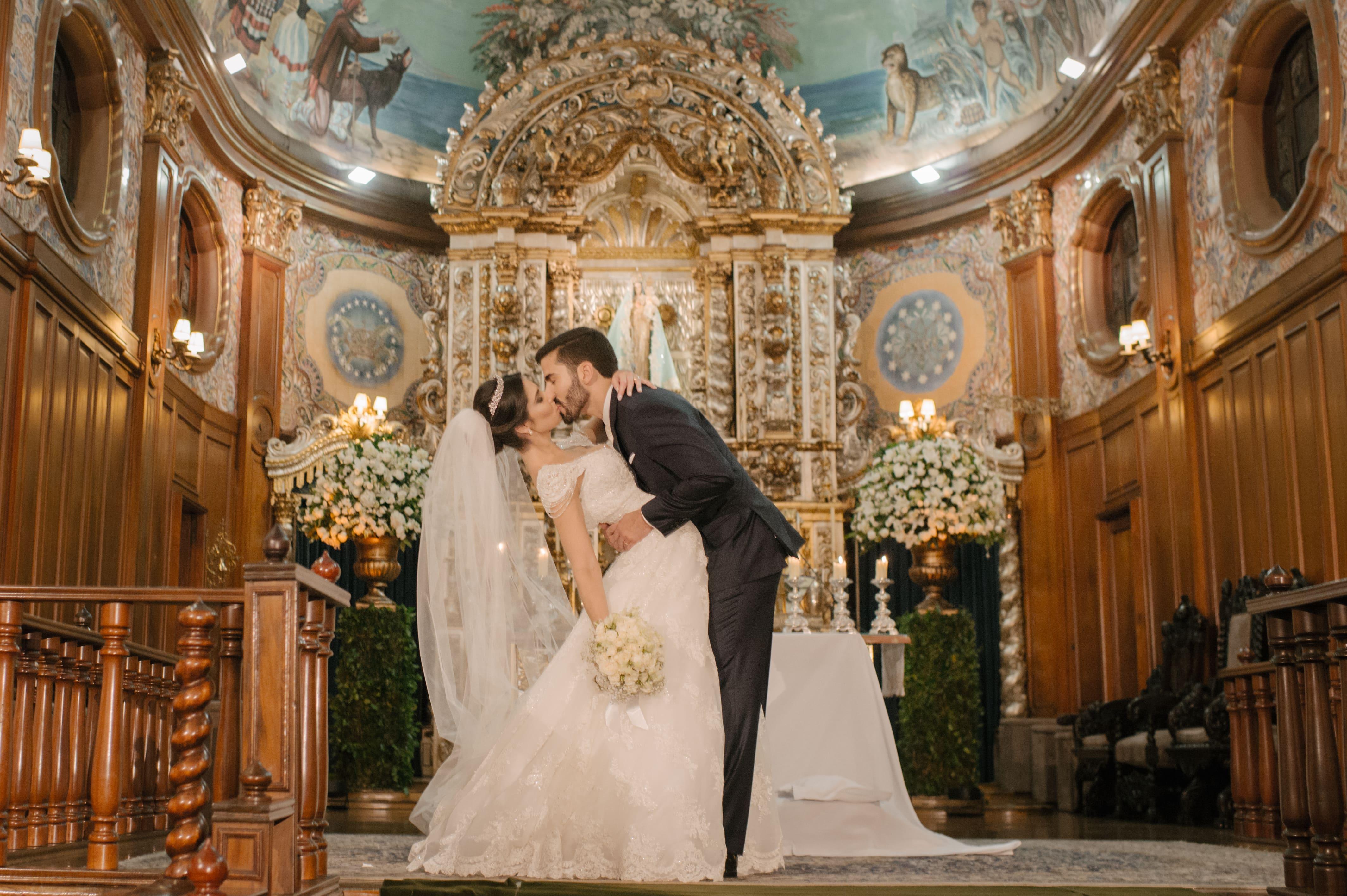 Casamento com decoração clássica – Daniela e Felipe