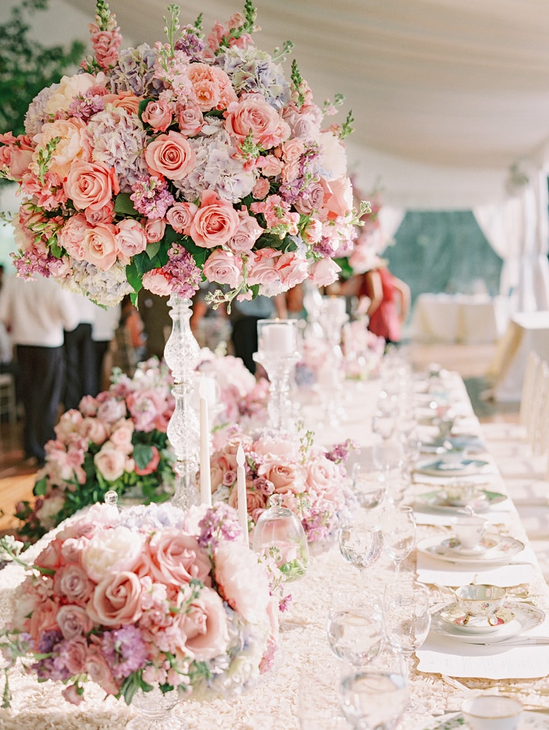 Decora o de casamento lindas ideias de centros de mesa - Mesa de centro grande ...