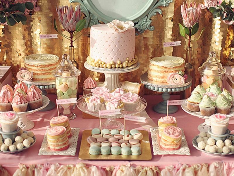 Chá de panela: mesas de doces lindas e criativas