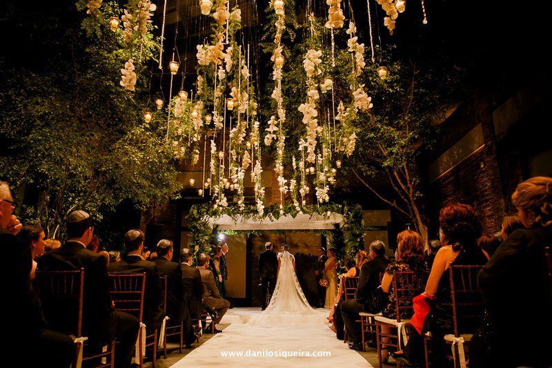 Casamento com decoração aérea – Juliana e Gustavo