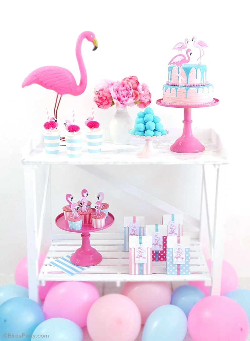 flamingo-birthday-party-pink-aqua-desserts-table-candy-bar-min