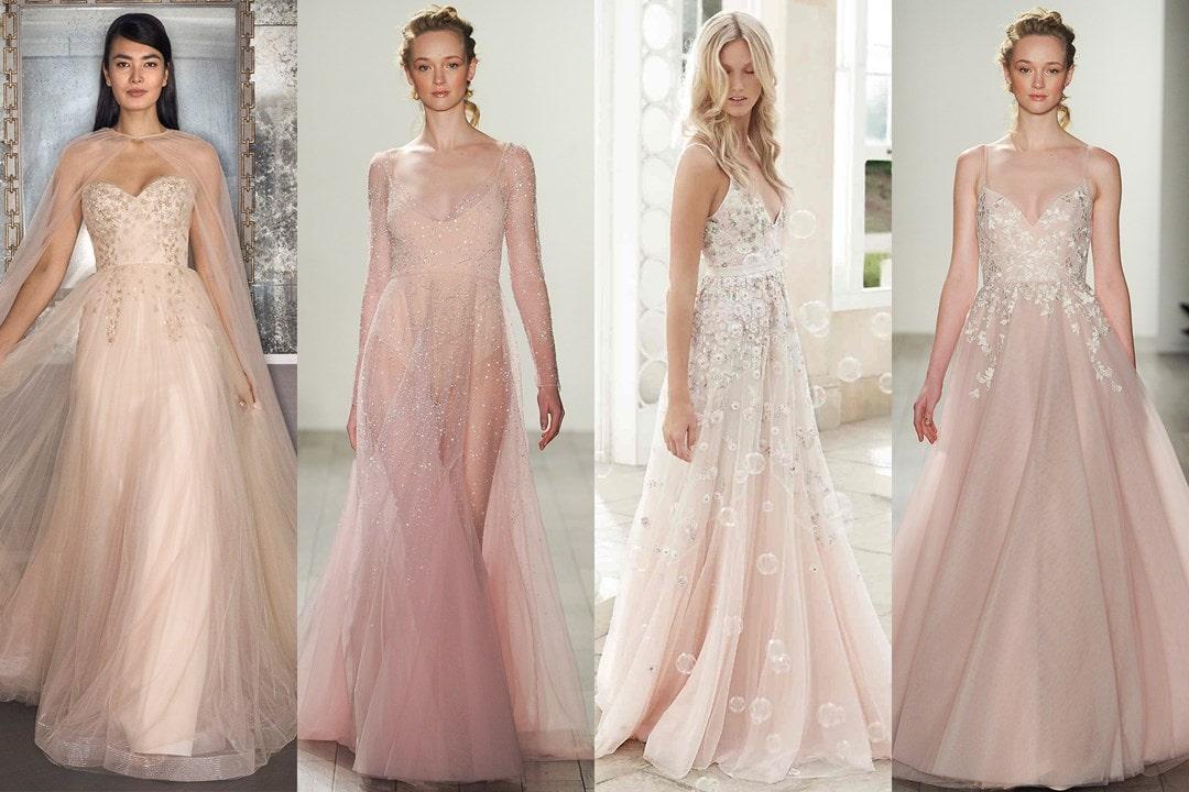 Vestidos rosados que até as noivas mais tradicionais vão amar
