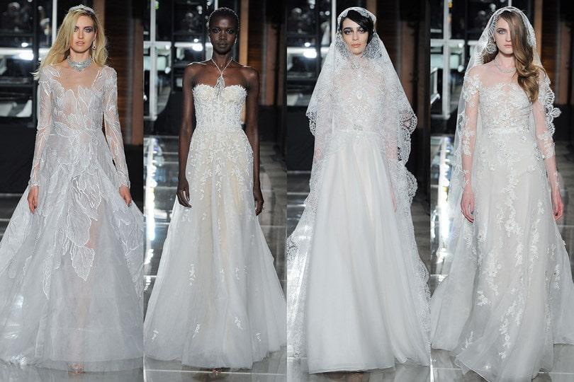 NY Bridal Week: Desfile de vestido de noiva de Reem Acra Primavera/2018