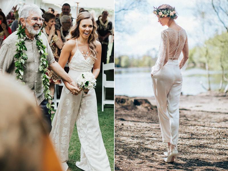 Noivas que provaram que casar com macacão também é deslumbrante