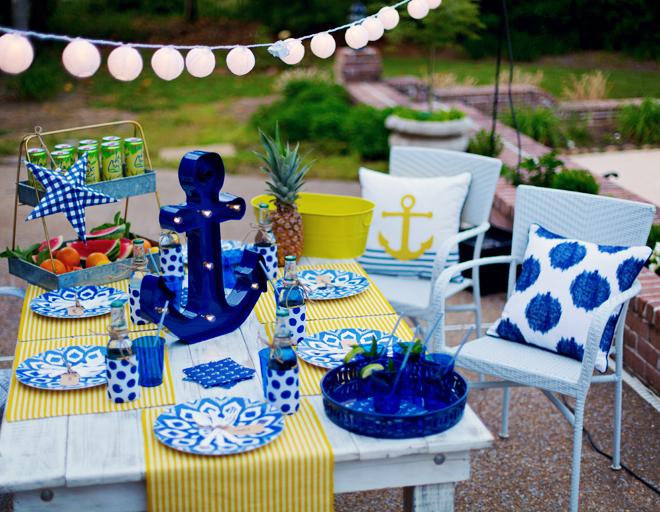 Chá de panela: decoração com o tema náutico