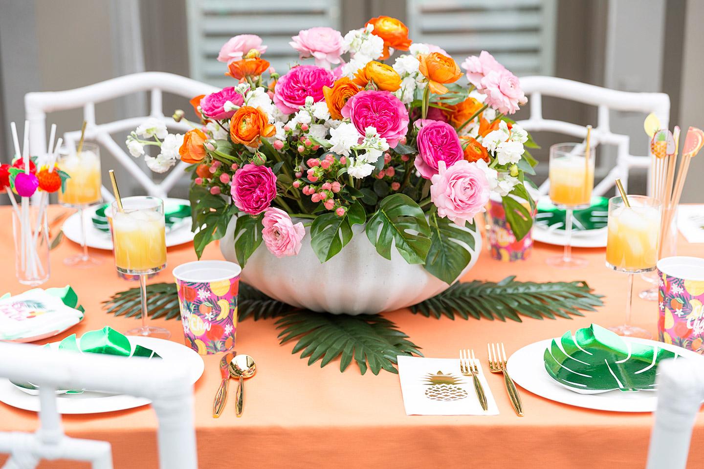 Chá de panela com o tema festa tropical