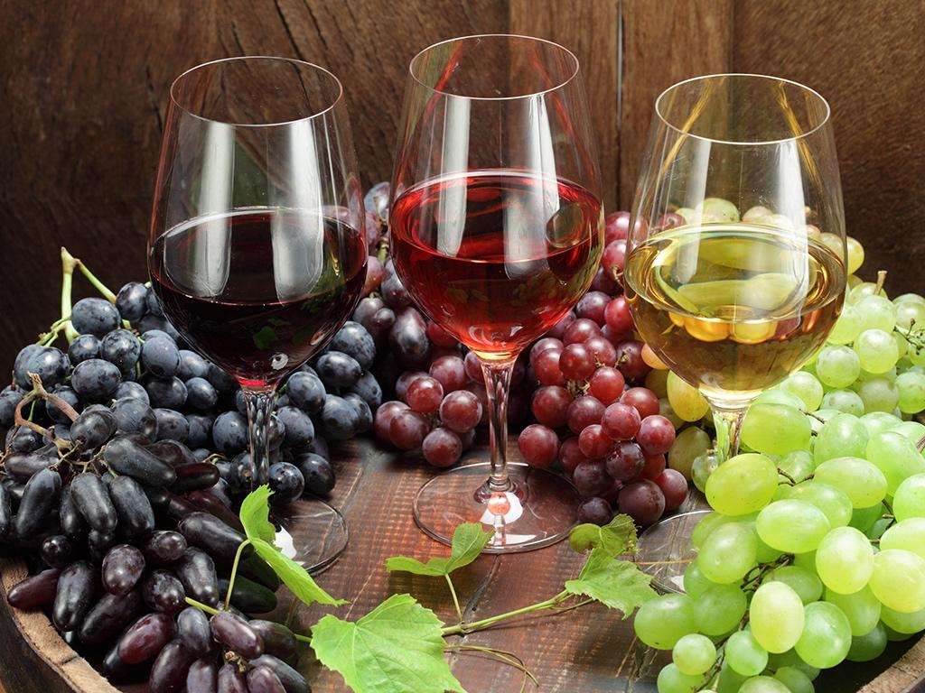 Uvas e vinhos
