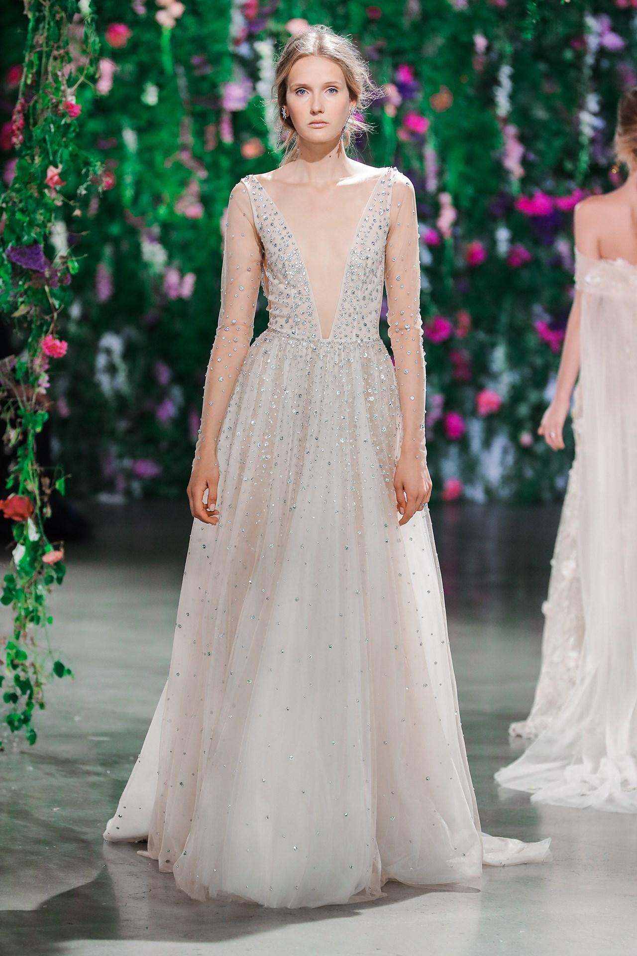tendencia-vestido-noiva-2018-brilho-Galia Lahav