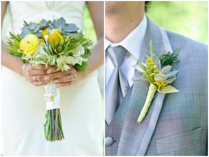 Como combinar a lapela do noivo com o buquê da noiva