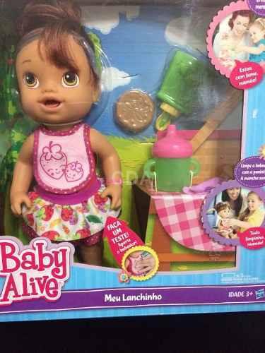 7cd3965627 Baby Alive Meu Lanchinho Morena Fala Português 100% Original ...