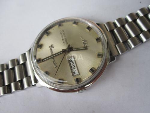 72b9b8f032d Relógio Mido Commander Automatico Aço 37mm 8419 Antigo - Catálogo ...