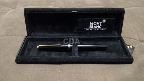 4d26319d30b Caneta Montblanc Tinteiro Pena 18k Ouro (ótimo Estado)