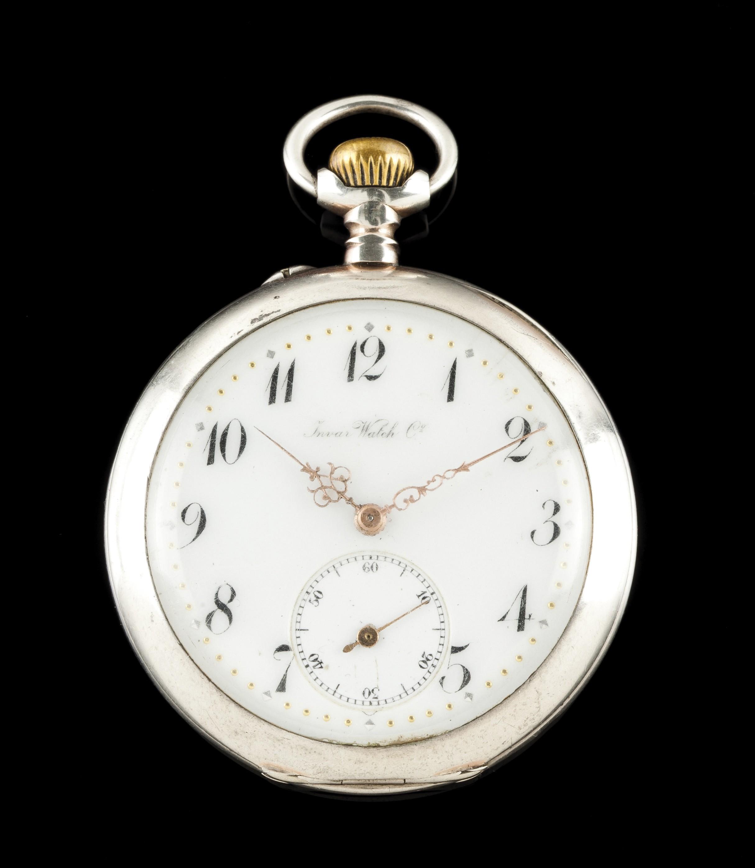 Relógio de bolso Invar