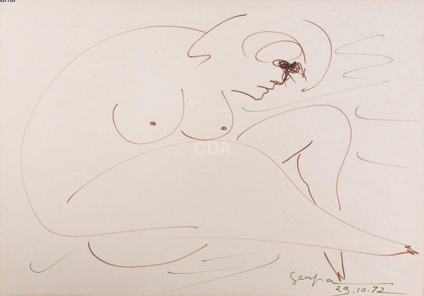 Nu feminino - Ivan Serpa