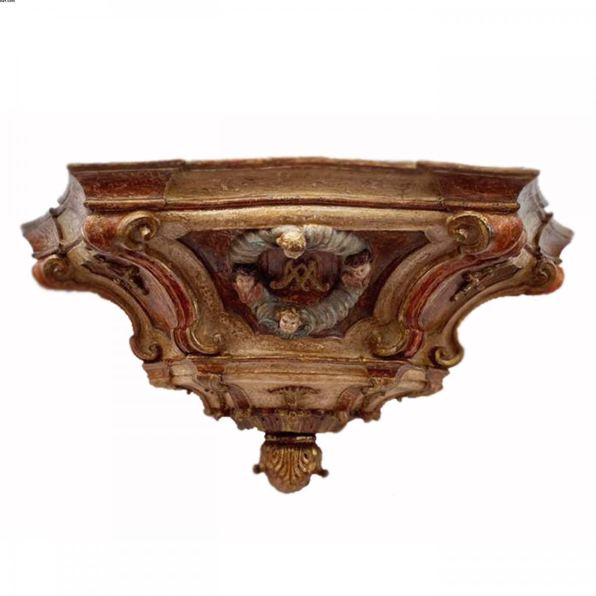 Excepcional e rara base de púlpito em madeira entalhada - Valentim da Fonseca e Silva - Mestre Valentim