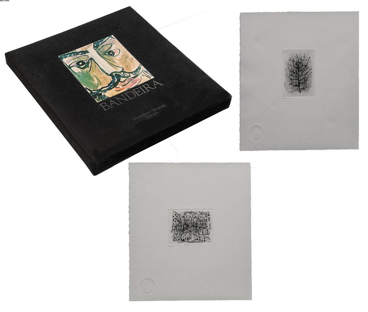 Livro contendo 9 gravuras originais - Antônio Bandeira (1922-1967)