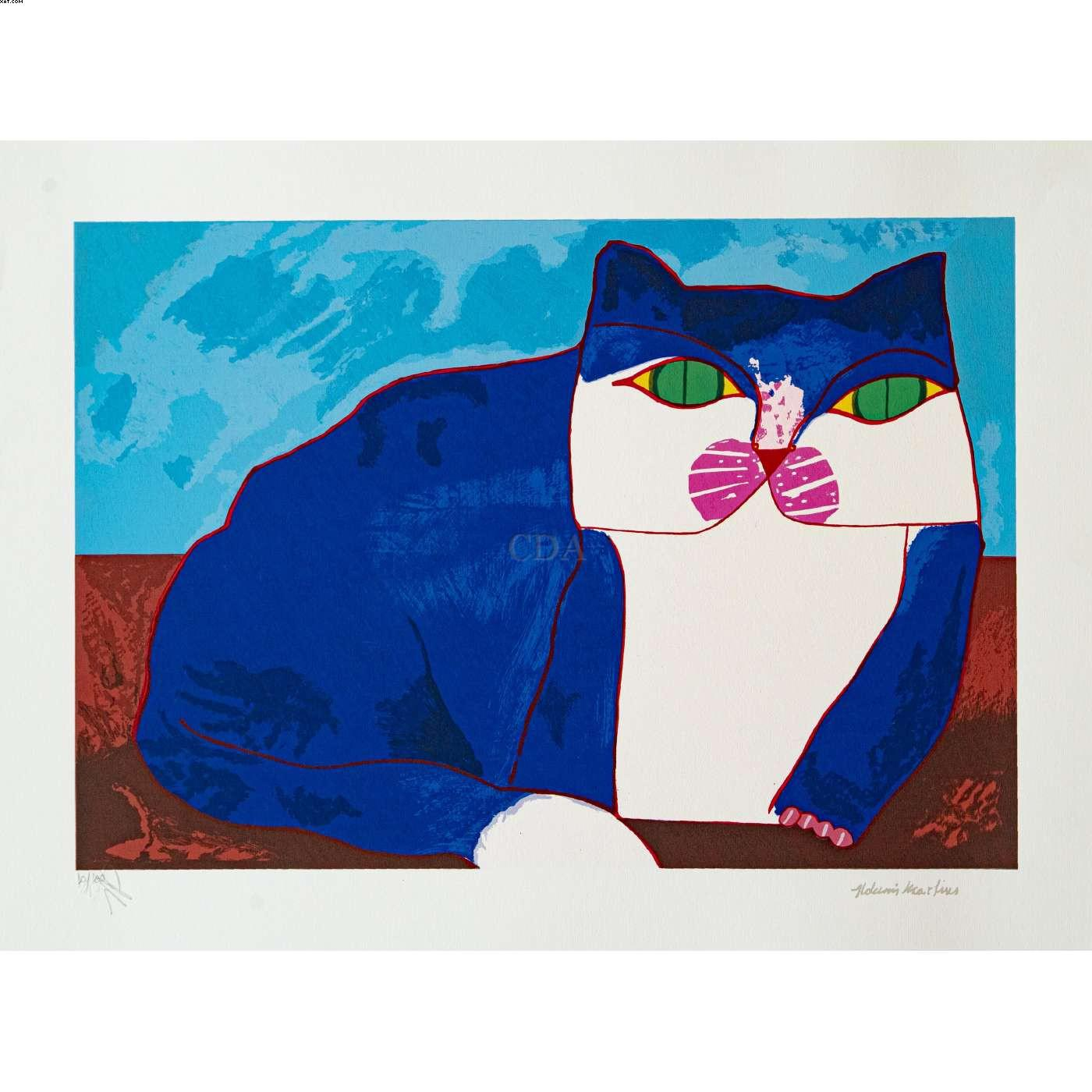 Gato Azul - Aldemir Martins