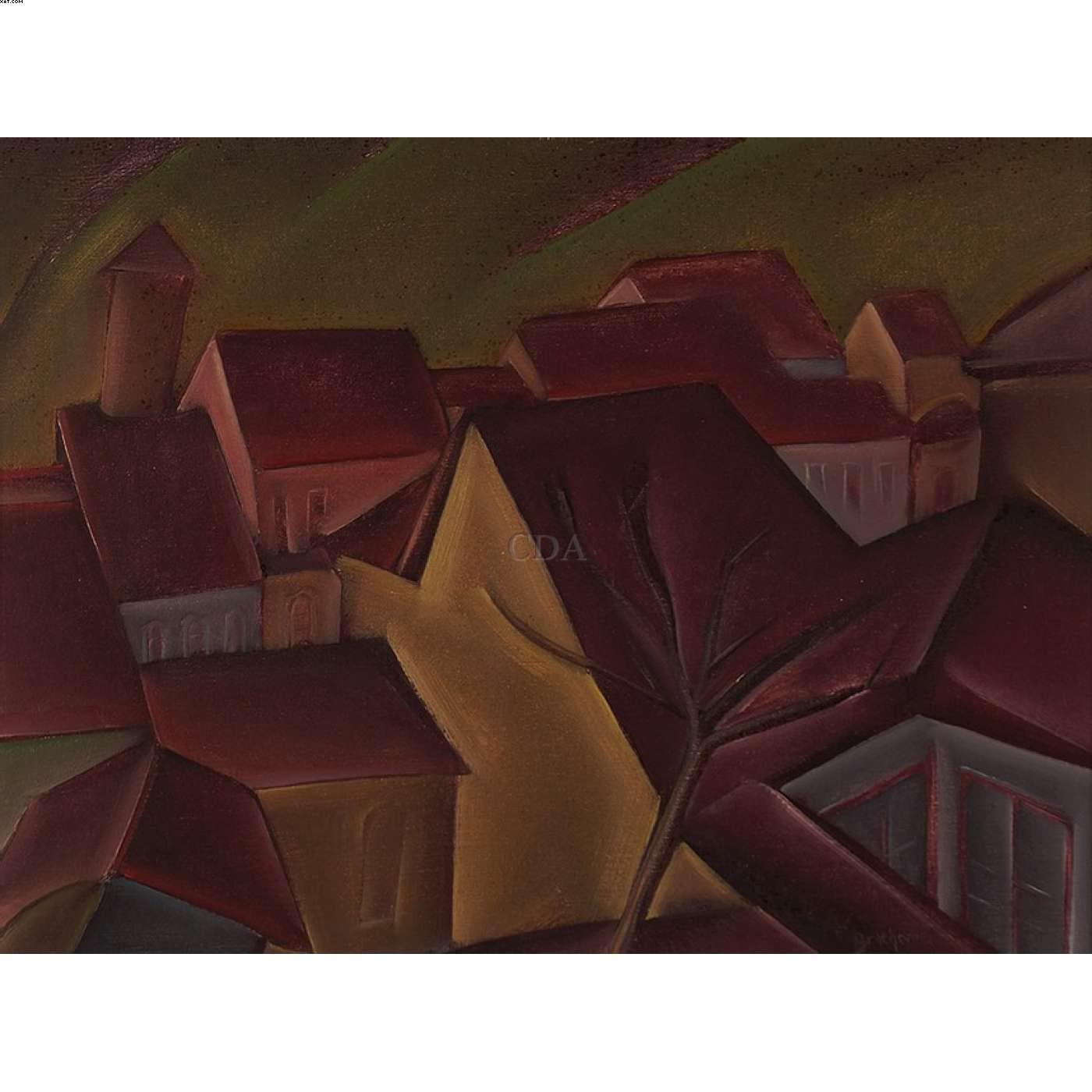 Telhados em Ouro Preto - Carlos Bracher - Carlos Bernardo Bracher