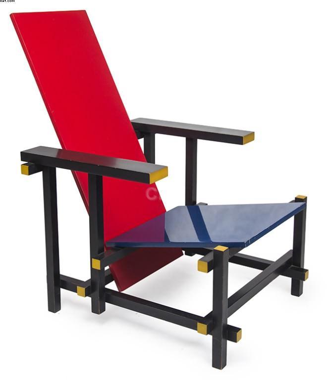 Red Blue Chair - Gerrit Rietvield - Gerrit Thomas Rietveld