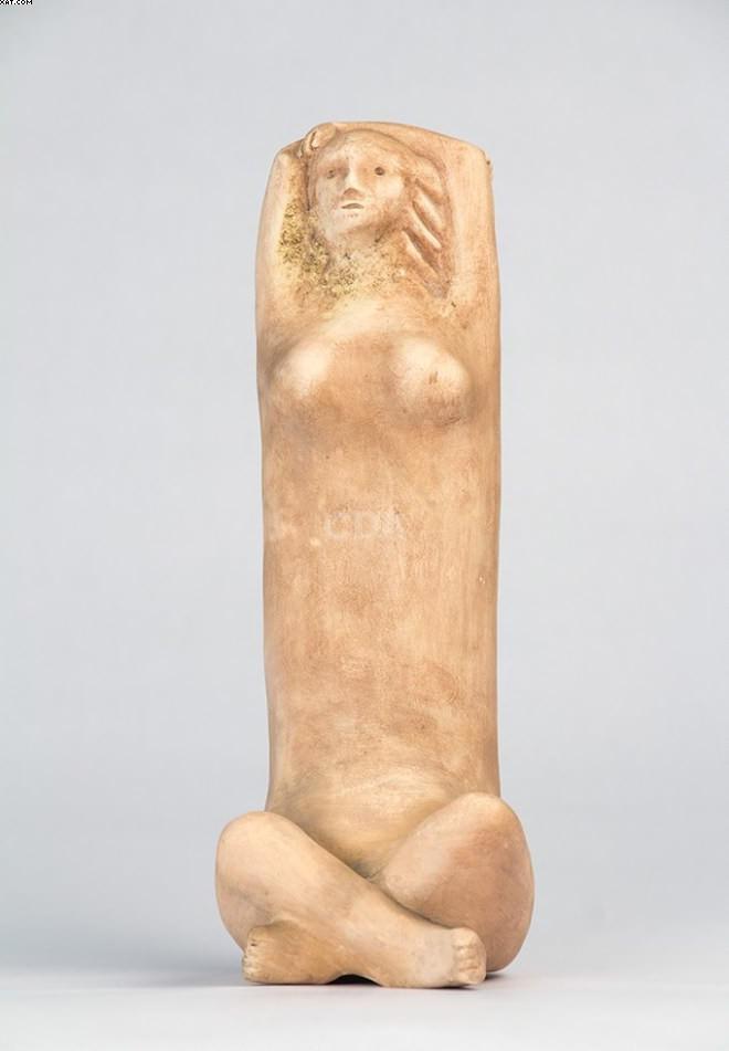 Mulher com as Mãos na cabeça - Vasco Prado