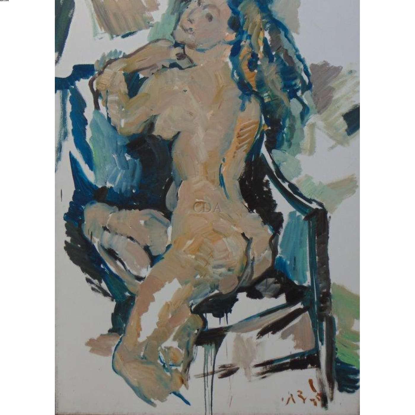 Mulher nua na cadeira  - Antonio Helio Cabral - Antonio Cabral