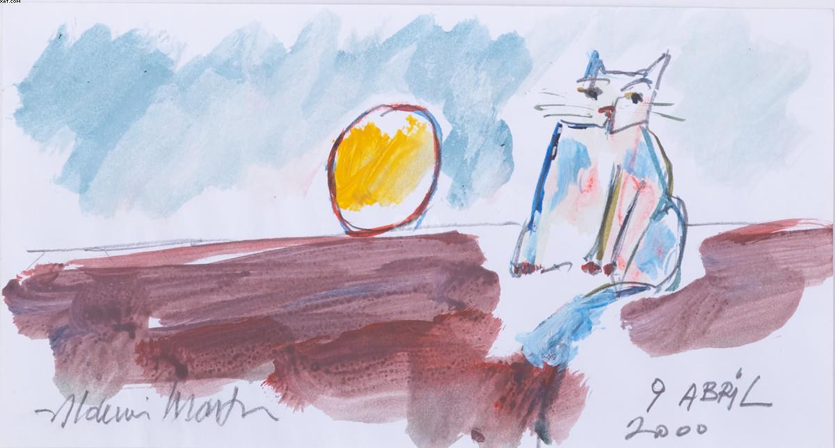 Gato e sol - Aldemir Martins