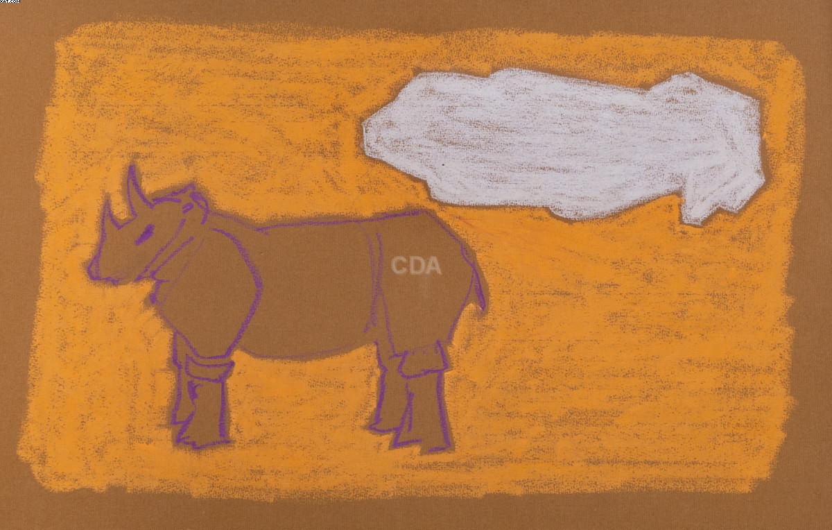 Rinoceronte e nuvem - Edgard de Souza