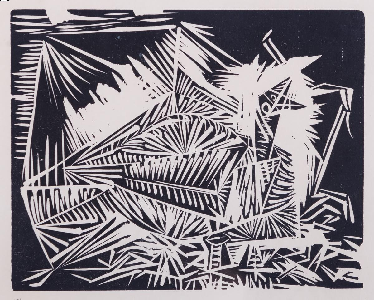 Le pigeonneau, da série 40 dessins de Picasso en marge du Buffon  - Pablo Picasso