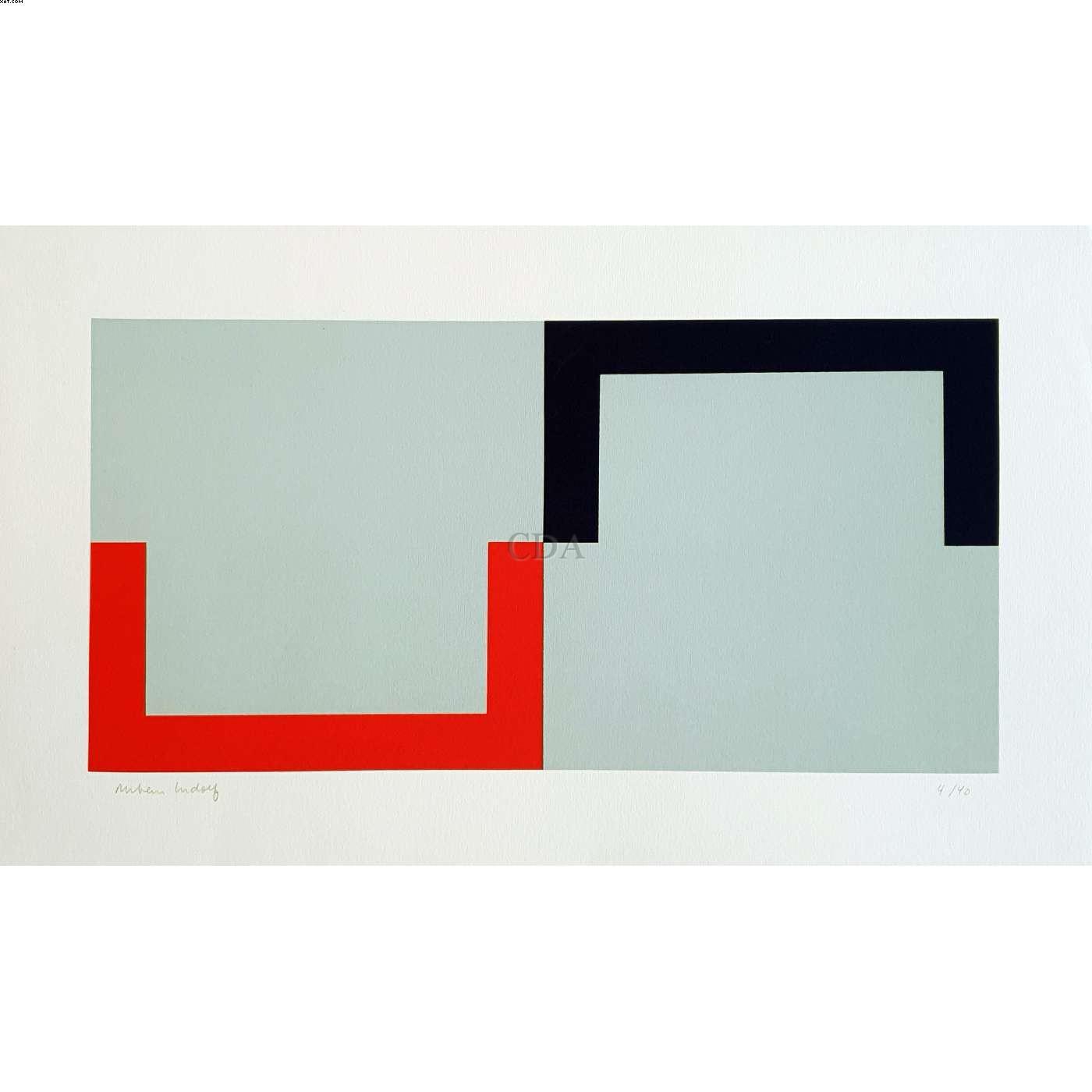 Composição cinza, preto e vermelho - Rubem Ludolf