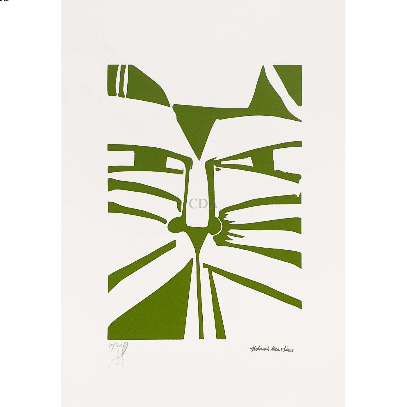 Gato verde  - Aldemir Martins