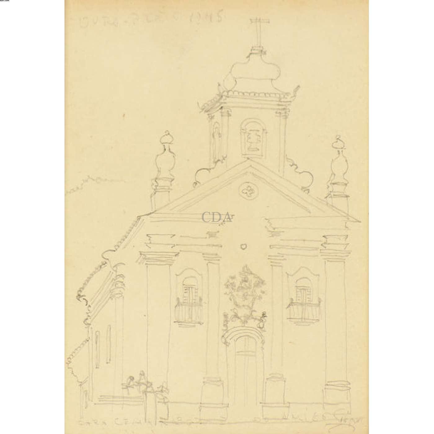 Igreja de Ouro Preto  - Alberto Guignard - Alberto da Veiga Guignard