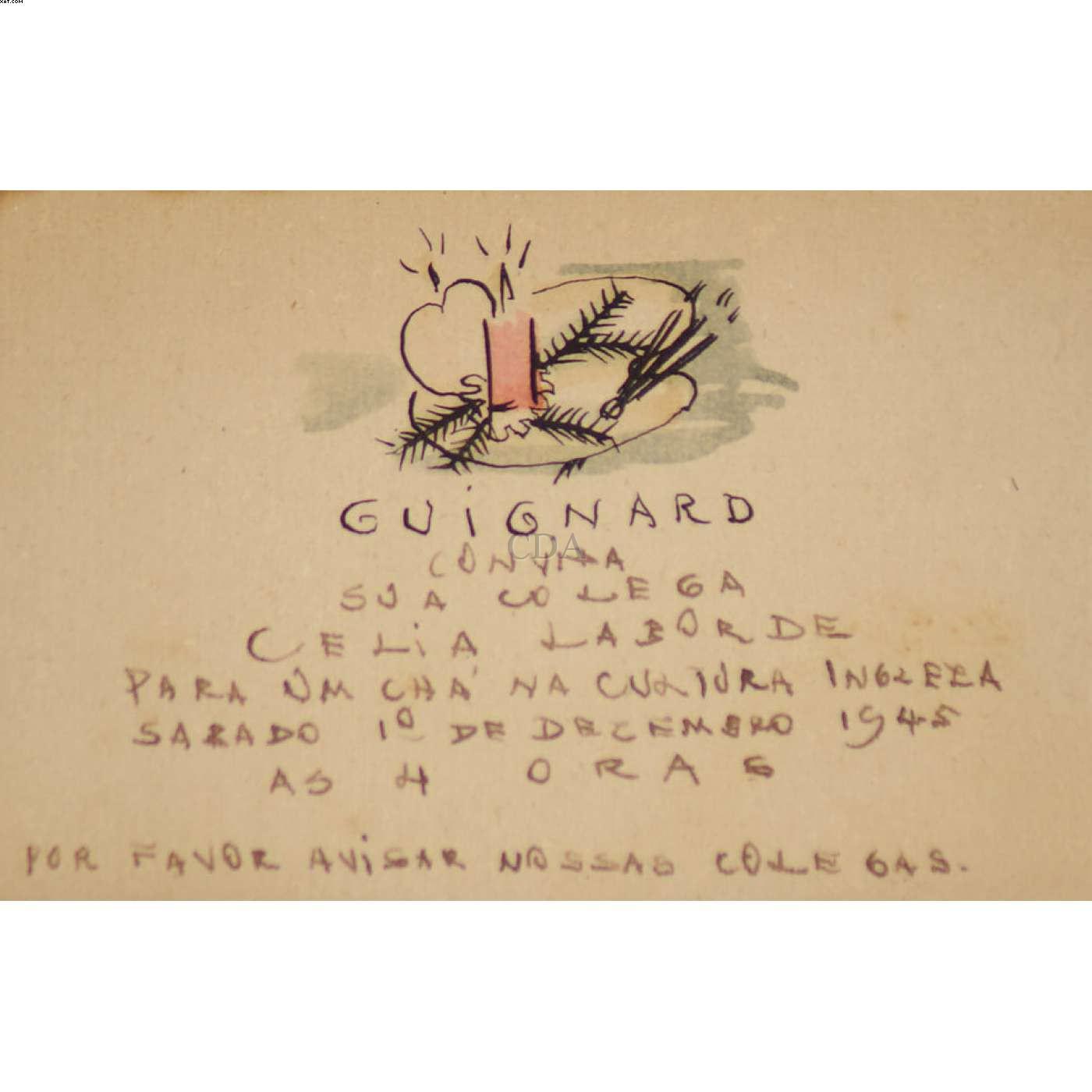 Cartão de Natal - Alberto Guignard - Alberto da Veiga Guignard