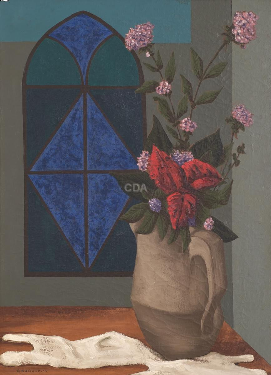 Vaso com flores - Clovis Graciano - Clóvis Graciano