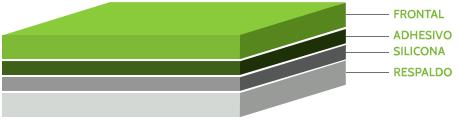 Gráfico Frontal, Adesivo, Silicone, Liner