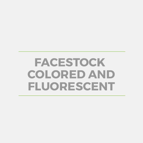 Facestock Colored and Fluorescent
